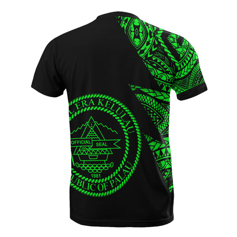 Image of Palau Custom Personalised T-Shirt - Micronesian Pattern Green Style - BN09