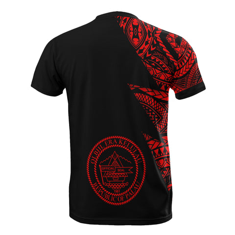 Palau Custom Personalised T-Shirt - Micronesian Pattern Red Style - BN09