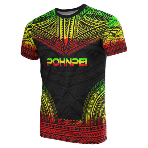 Image of Pohnpei All Over T-shirt - Polynesian Reggae Color - BN10