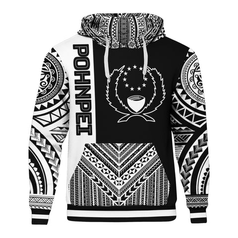 Pohnpei Hoodie - Polynesian Special Black Style BN10