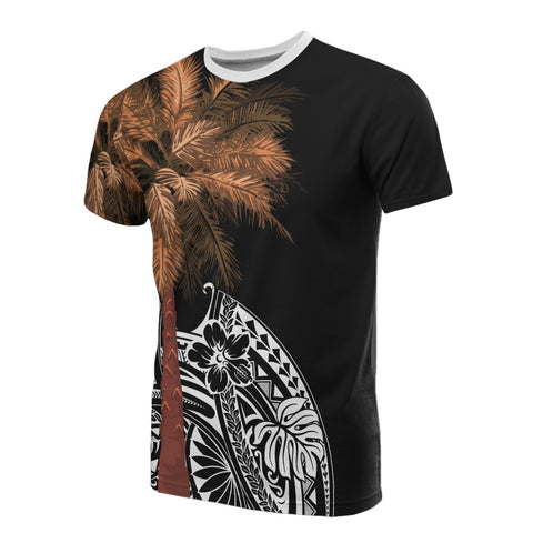 Image of Polynesian T-shirt - Palm Tree Black - BN39
