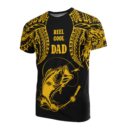 Image of Polynesia T-Shirt - Reel Cool Dad Fishing Gold Color - BN39