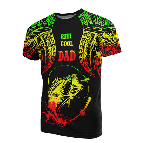 Polynesia T-Shirt - Reel Cool Dad Fishing Reggae Color - BN39
