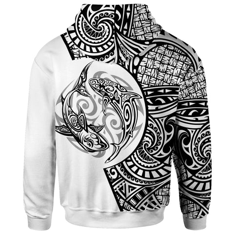 Polynesian Zip-Up Hoodie - Fishing Makes Me Happy - BN20