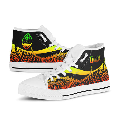 Guam High Top Shoes Reggae - Polynesian Tentacle Tribal Pattern - BN11
