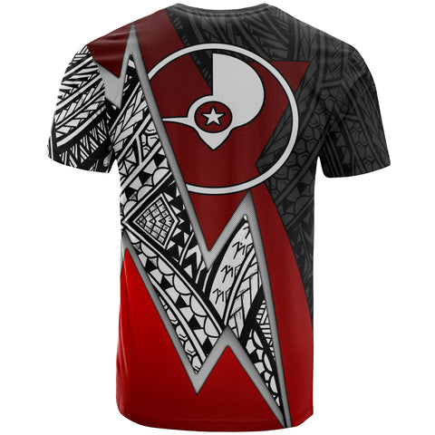 Yap Micronesian Custom Personalised T-Shirt - Red Lighting Piece