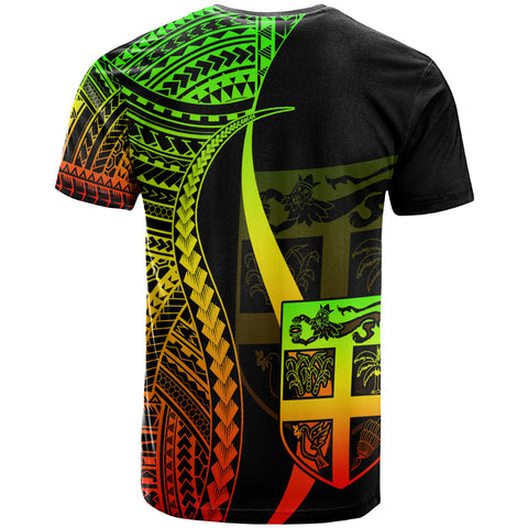 Image of FiJi T-Shirt Reggae - Polynesian Tentacle Tribal Pattern