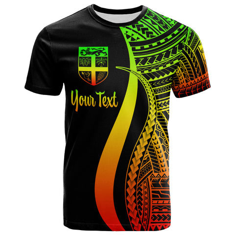 FiJi Custom Personalised T-Shirt Reggae - Polynesian Tentacle Tribal Pattern