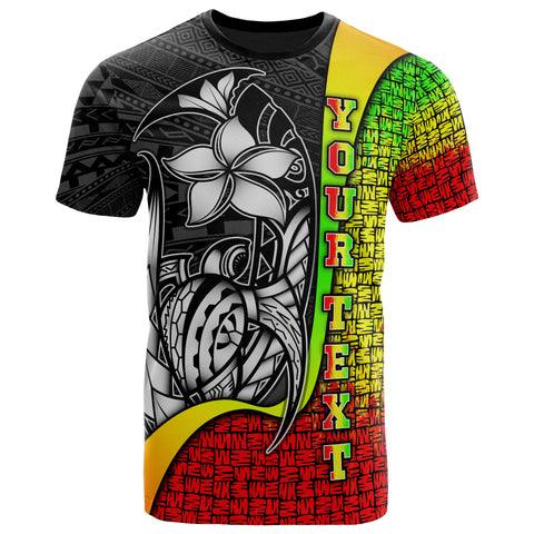 Image of Cook Islands Polynesian Custom Personalised T-Shirt Reggae - Turtle with Hook
