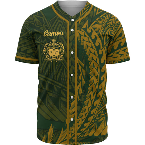 Samoa Baseball Shirt - Green Wings Style