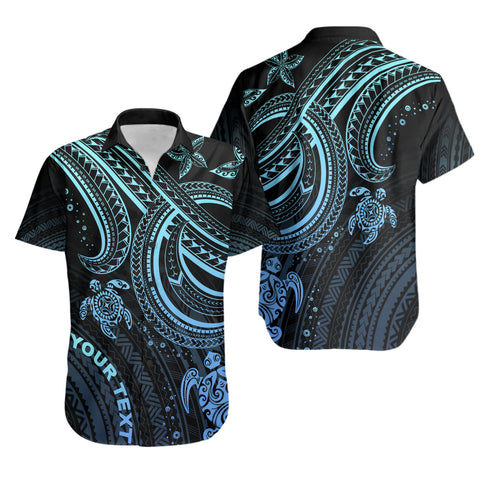 Polynesian Custom Personalised Shirt - Blue Turtle