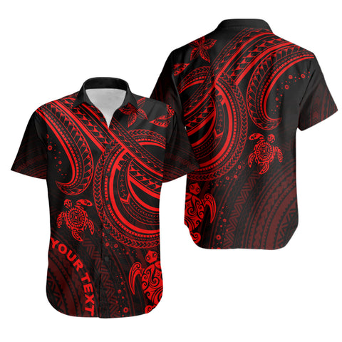 Polynesian Custom Personalised Shirt - Red Turtle