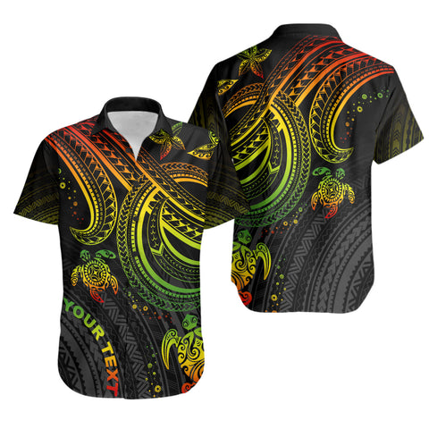 Polynesian Custom Personalised Shirt - Reggae Turtle