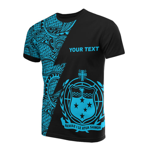 Image of Samoa Custom Personalised T-Shirt - Polynesian Pattern Neon Style
