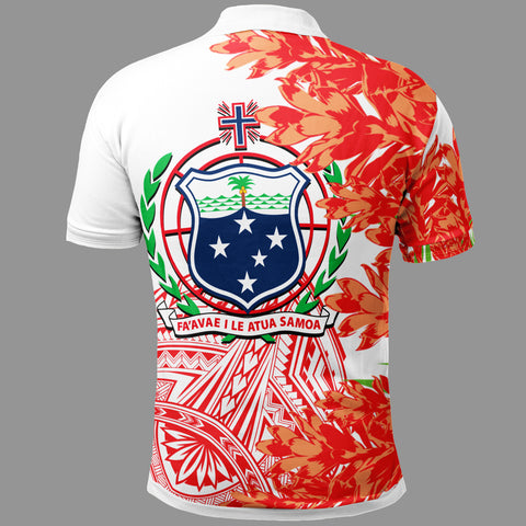 Image of Samoa Polo Shirt - The Teuila Polynesian Pattern - BN39