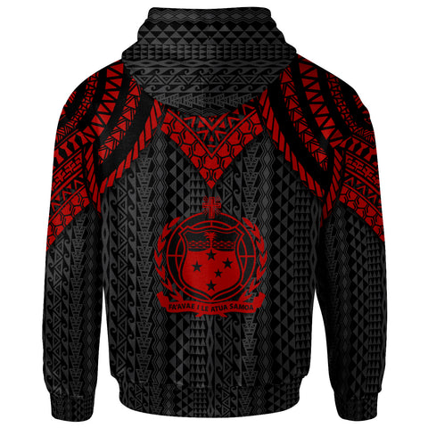 Image of Samoa Hoodie - Polynesian Armor Style Red - BN39