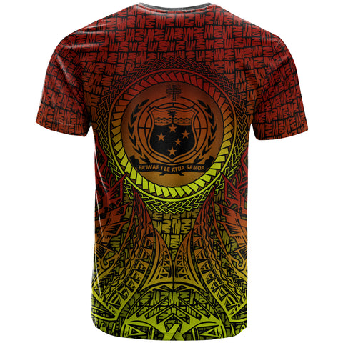 Image of Samoa T-Shirt - Polynesian Circle Pattern - BN39