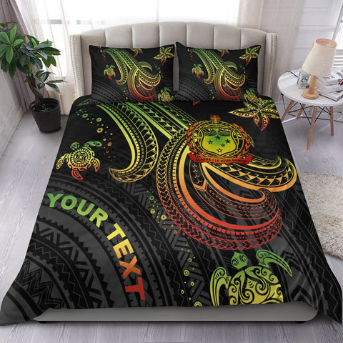 Image of Samoa Custom Personalised Bedding Set - Reggae Turtle
