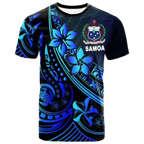 Image of Samoa T-Shirt - The Flow Of The Ocean Blue - BN20