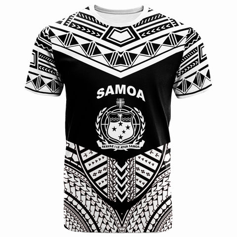 Image of Samoa T-Shirt - Tribal Pattern Cool Style White Color - BN20
