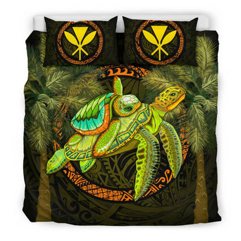 Hawaii Bedding Set - Polynesian Turtle Palm Tree - BN39