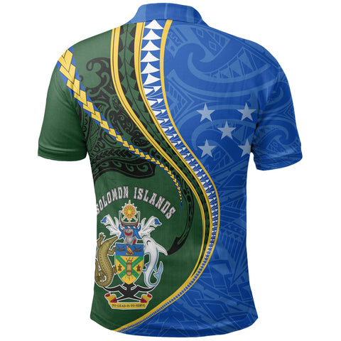 Solomon Islands Polo T-Shirt Kanaloa Tatau Gen SI Back