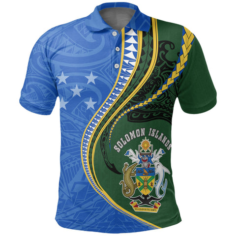 Image of Solomon Islands Polo T-Shirt Kanaloa Tatau Gen SI Front