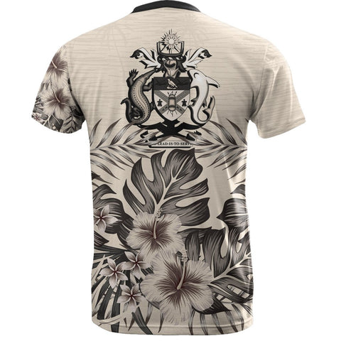 Solomon Islands T-Shirt The Beige Hibiscus Back