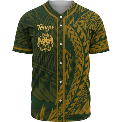 Tonga Baseball Shirt - Green Wings Style