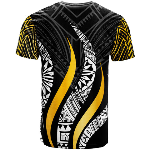 Image of Samoa T-Shirt - Samoa Strong Fire Gold Pattern - BN20