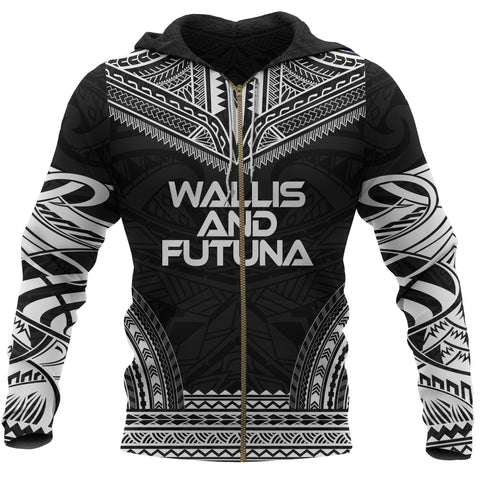 Wallis and Futuna All Over Zip-Up Hoodie - Chief Style - BN10