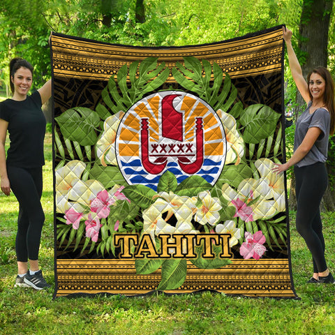Tahiti Premium Quilt - Polynesian Gold Patterns Collection