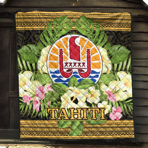 Tahiti Premium Quilt - Polynesian Gold Patterns Collection - BN01