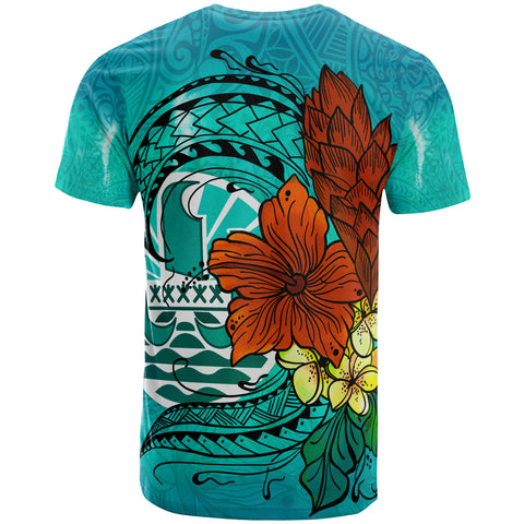 Tahiti T-Shirt - Tropical Flowers Style - BN01