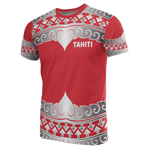 Tahiti Polynesian All Over T-Shirt - Wave Style
