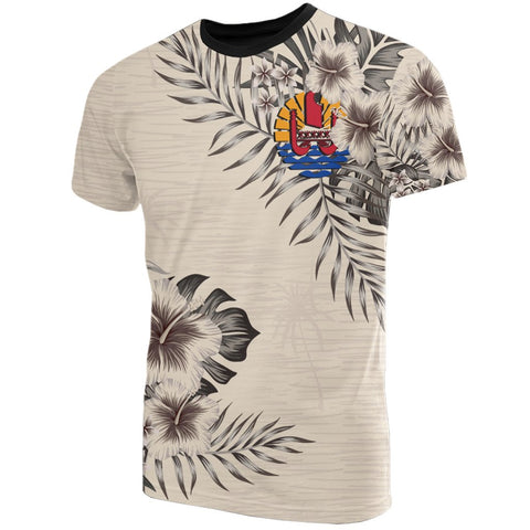 Image of Tahiti T-Shirt The Beige Hibiscus Front