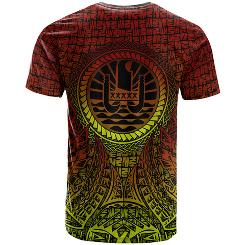 Image of Tahiti T-Shirt - Polynesian Circle Pattern - BN39