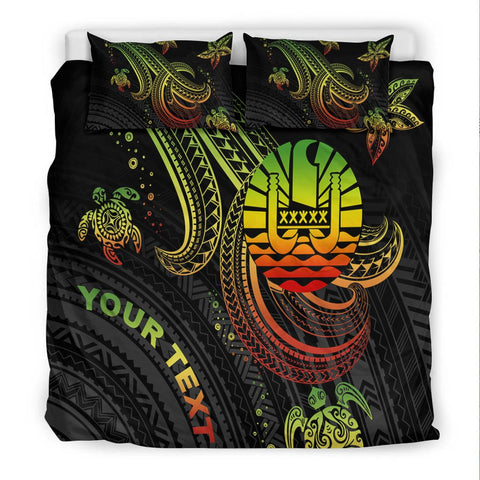 Image of Tahiti Custom Personalised Bedding Set - Reggae Turtle