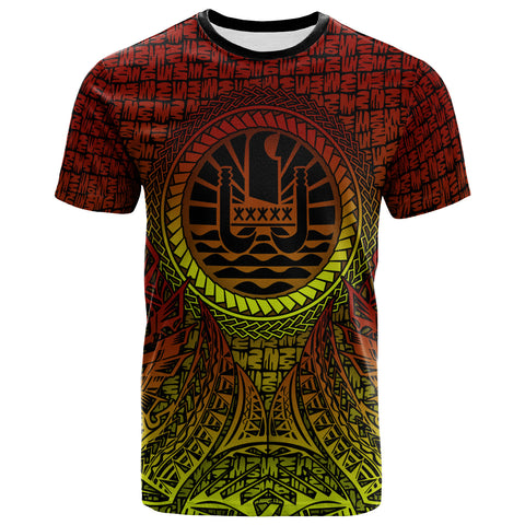 Image of Tahiti T-Shirt - Polynesian Circle Pattern