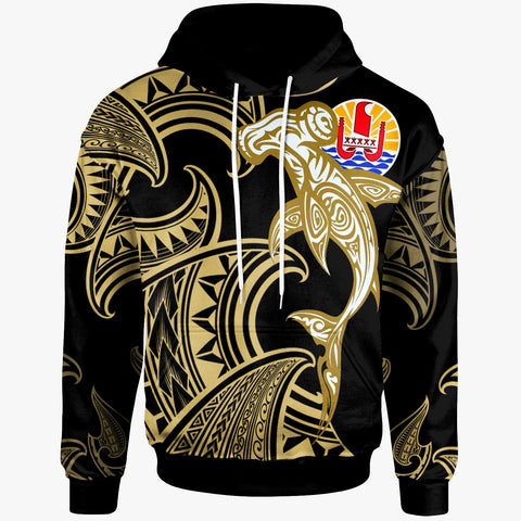 Image of Tahiti Hoodie - Hammerhead Shark Tribal Pattern - BN20