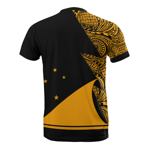 Image of Tokelau Custom Personalised T-Shirt - Polynesian Pattern Gold Style - BN09