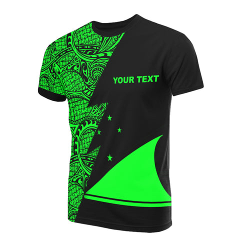 Image of Tokelau Custom Personalised T-Shirt - Polynesian Pattern Green Style