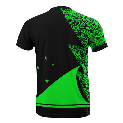 Image of Tokelau Custom Personalised T-Shirt - Polynesian Pattern Green Style - BN09