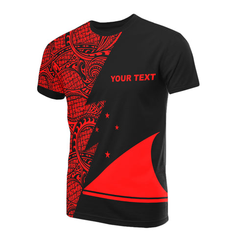 Image of Tokelau Custom Personalised T-Shirt - Polynesian Pattern Red Style