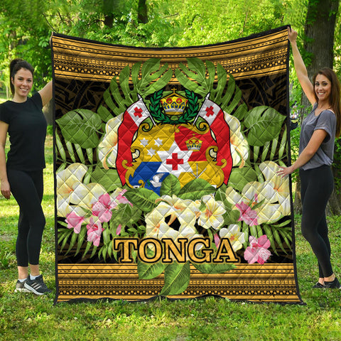 Tonga Premium Quilt - Polynesian Gold Patterns Collection
