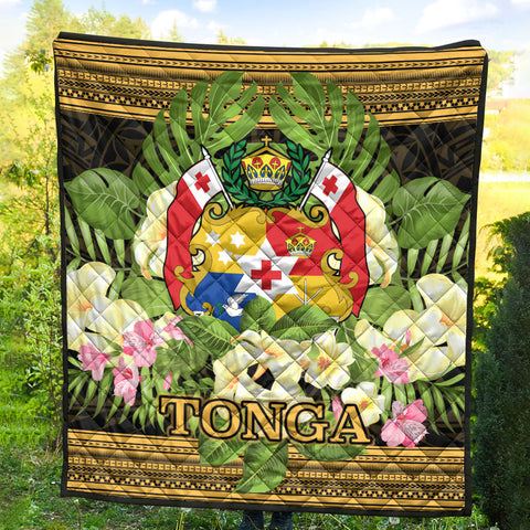 Tonga Premium Quilt - Polynesian Gold Patterns Collection - BN01