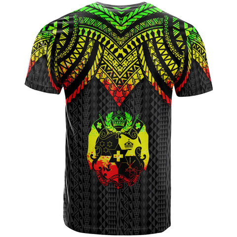 Image of Tonga Custom Personalised T-Shirt - Polynesian Armor Style Reggae - BN39