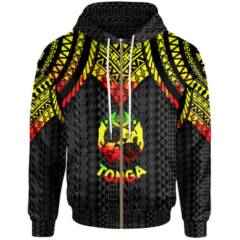Image of Tonga Zip-Up Hoodie - Polynesian Armor Style Reagge - BN39