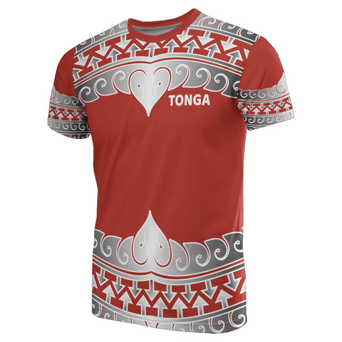 Tonga Polynesian All Over T-Shirt - Wave Style - Bn10