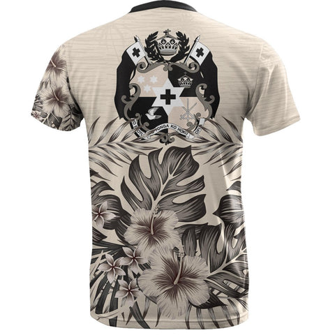 Tonga T-Shirt The Beige Hibiscus Back